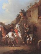 unknow artist Cavaliers halted at a farrier oil painting picture wholesale