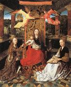 unknow artist Madonna and Child  Enthroned with SS.Catherine and Barbara oil painting picture wholesale