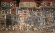 Ambrogio Lorenzetti Effects of Good Government in the City oil painting picture wholesale