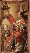 BERRUGUETE, Pedro Federico da Motefeltro,Duke of Urbino,with His Son Guidobaldo oil