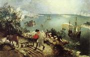BRUEGEL, Pieter the Elder Landscape with the Fall of Icarus oil painting picture wholesale