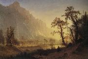 Bierstadt Albert Sunris,Yosemite Valley oil painting picture wholesale