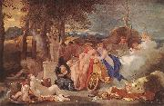 Bourdon, Sebastien Bacchus and Ceres with Nymphs and Satyrs oil painting reproduction