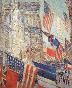 Childe Hassam Allies Day,May 1917 oil painting artist
