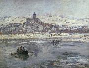 Claude Monet Vetheuil in winter oil painting picture wholesale