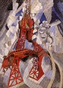 Delaunay, Robert Eiffel Tower or the Red Tower oil painting picture wholesale
