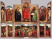 EYCK, Jan van The Ghent Altarpiece (wings open) oil painting picture wholesale