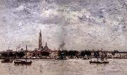 Eugene Boudin Le Port a Anvers oil painting picture wholesale