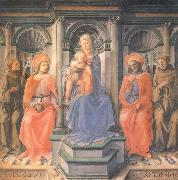 Fra Filippo Lippi Madonna and Child Enthroned with Sts Francis,Damian,Cosmas and Anthony of Padua oil painting picture wholesale