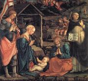 Fra Filippo Lippi The Adoration of the Infant Jesus with St George and St Vincent Ferrer oil painting picture wholesale