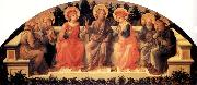 Fra Filippo Lippi Sts Francis,Lawrence,Cosmas or Damian,John the Baptist,Damian or Cosmas,Anthony Abbot and Peter oil painting picture wholesale