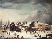 Francis Guy Winter Scene in Brooklyn oil painting picture wholesale