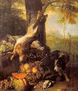 Francois Desportes Still Life with Dead Hare and Fruit oil painting picture wholesale