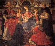 GHIRLANDAIO, Domenico Madonna and Child Enthroned between Angels and Saints oil painting picture wholesale