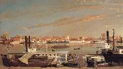 George Tirrell View of Sacramento,California,From Across the Sacramento River oil painting picture wholesale