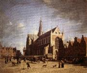 Gerrit Bakhuizen Great Market in Haarlem oil painting picture wholesale