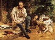 Gustave Courbet Pierre-joseph Prud'hon and His Children oil painting picture wholesale