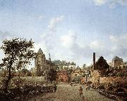 HEYDEN, Jan van der proach to the Town of Veere oil painting picture wholesale