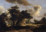 HOBBEMA, Meyndert Village among trees oil painting picture wholesale