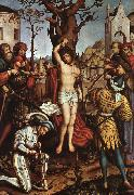 HOLBEIN, Hans the Elder The Martyrdom of Saint Sebastian oil painting picture wholesale