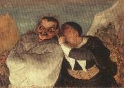 Honore Daumier Crispin and Scapin oil painting artist