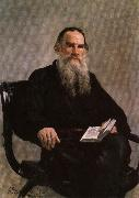 Ilya Repin Portrait of Leo Tolstoy oil painting artist