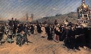 Ilya Repin A Religious Procession in kursk province oil painting
