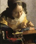 Jan Vermeer Details of The Lacemaker oil painting picture wholesale