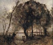 Jean Baptiste Camille  Corot The lake oil painting picture wholesale