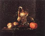 KALF, Willem Still-Life with Silver Bowl, Glasses, and Fruit oil painting picture wholesale