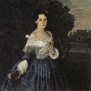 Konstantin Somov Lady in Blue oil painting picture wholesale