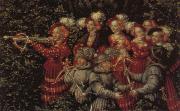 Lucas Cranach Details of The Stag Hunt oil painting picture wholesale