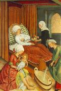 MASTER of the Pfullendorf Altar The Birth of Mary oil painting artist