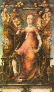 MICHELE PANNONIO Ceres Enthroned oil painting artist