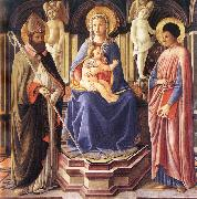 Master of The Castello Nativity Madonna and Sts Clement and Just oil painting artist
