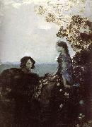 Mikhail Vrubel Hamlet and Ophelia oil painting picture wholesale