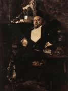 Mikhail Vrubel Portrait of Savva Mamontov oil painting picture wholesale