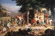 Nahl, Charles Christian Sunday Morning in the Mines oil painting picture wholesale