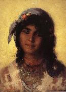 Nicolae Grigorescu Gypsy's Head oil painting picture wholesale