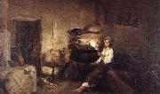 Nicolae Grigorescu Peasant Woman in her House oil painting picture wholesale