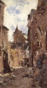 Nicolae Grigorescu Street in Vitre oil painting picture wholesale