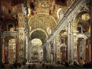 PANNINI, Giovanni Paolo Interior of Saint Peter's oil painting picture wholesale