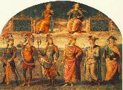 PERUGINO, Pietro Fortitude and Temperance with Six Antique Heroes oil painting picture wholesale
