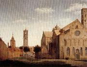 Pieter Jansz Saenredam St Mary's Square and St Mary's Church at Utrecht oil painting picture wholesale