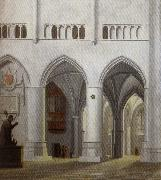 Pieter Jansz Saenredam Interior of the Church of Saint Bavo in Haarlem oil painting artist