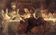 REMBRANDT Harmenszoon van Rijn The Conspiration of the Bataves oil painting picture wholesale