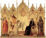 Simone Martini Annunciation with Two Saints and Four Prophets oil painting artist