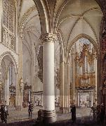Vervloet Francois Interieur de la cathedrale Saint-Rombaut a Malines oil painting picture wholesale