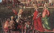Vittore Carpaccio Meeting of the Betrothed Couple (detail) oil painting picture wholesale