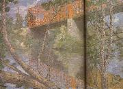 julian alden weir Le pont rouge oil painting artist